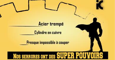 Serrures avec super pouvoirs!